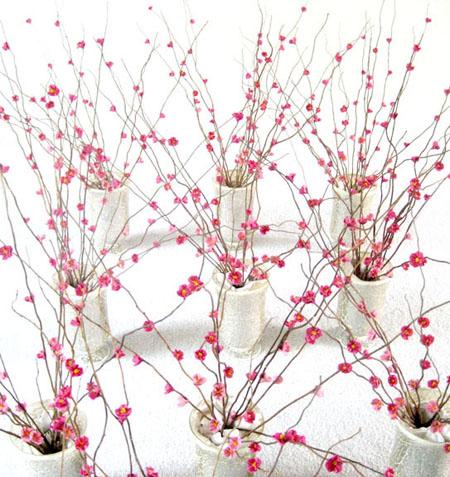 Fleurs de cerisiers en papier