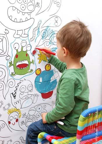 Et si on laissait les enfants dessiner sur les murs - Comment dessiner sur un mur de chambre ...