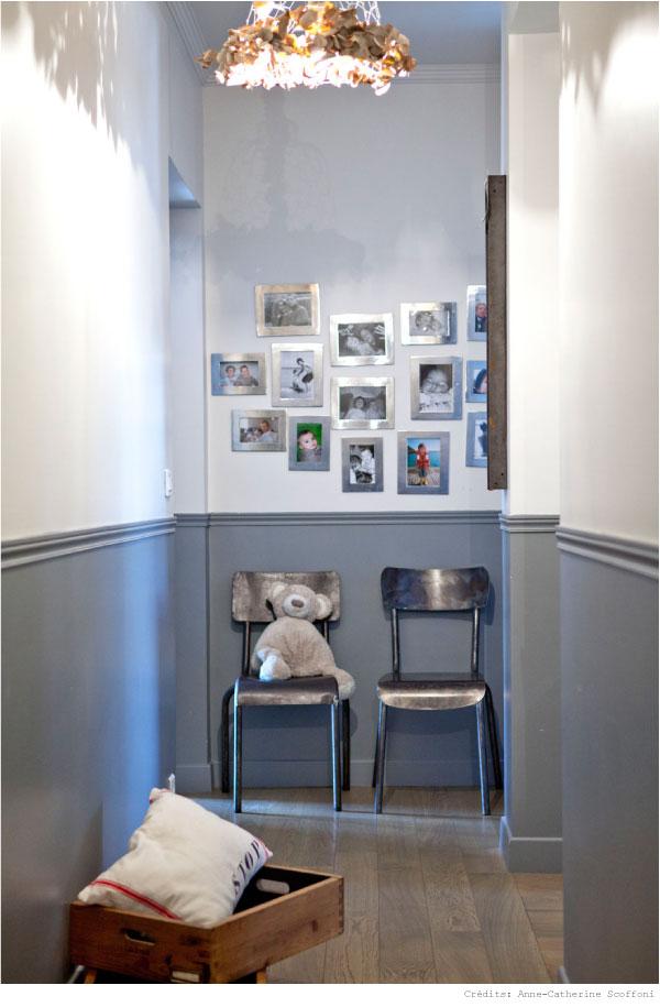 Visite priv e chez fanny du rep re des belettes - Couleur peinture couloir sombre ...