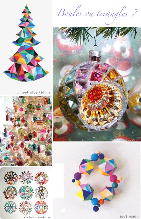 Epingl sur pinterest boules ou triangles de no l plumetis magazine - Pinterest boule de noel ...