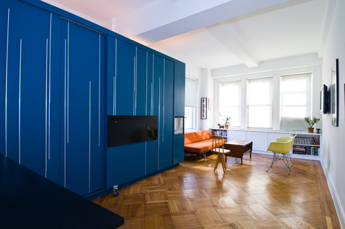 Unfolding Apartment modern living room