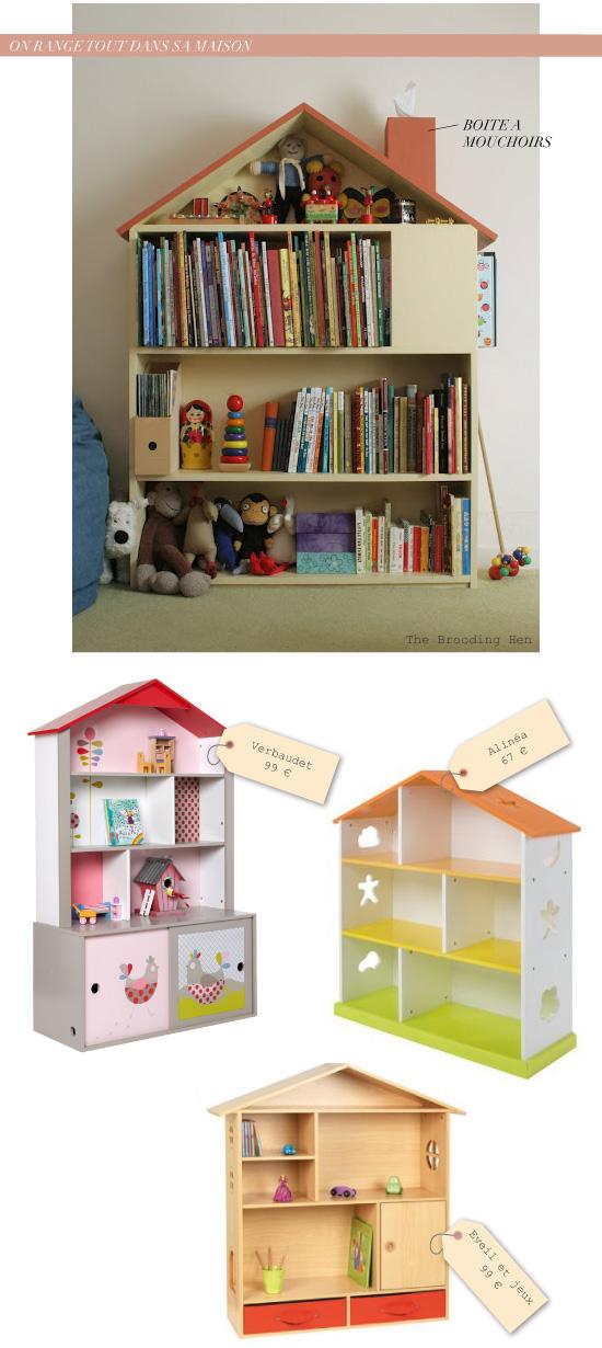 Chambre d 39 enfant on range tout dans sa petite maison - Bibliotheque chambre enfant ...