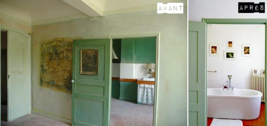 Avant apr s les chambres d 39 h tes de la villa de lorgues for Decoration avant apres