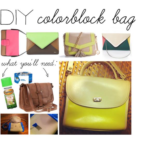 DIY: Colorblock Bag
