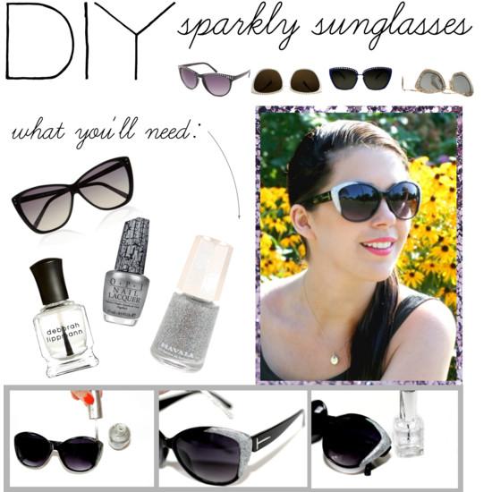DIY: Sparkly Sunglasses