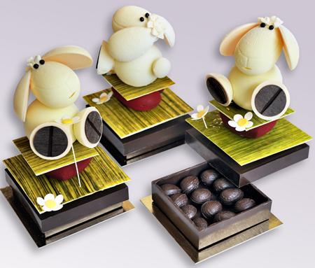 le mouton en chocolat de p ques. Black Bedroom Furniture Sets. Home Design Ideas