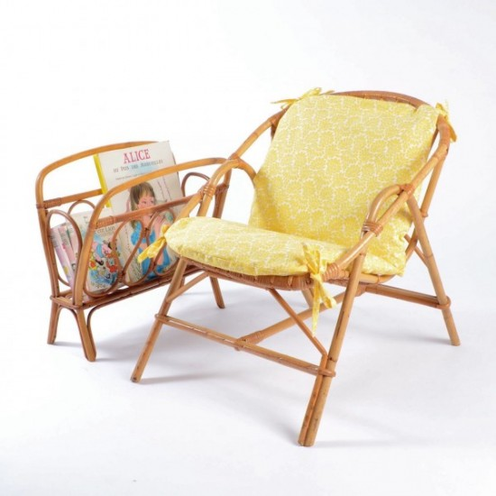 Rotin et osier dans une chambre d 39 enfant - Peindre un fauteuil en rotin ...