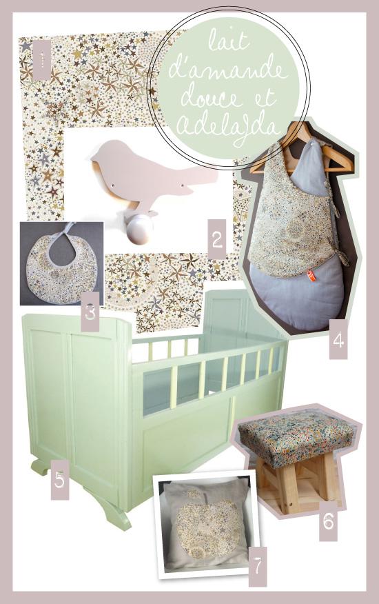 Chambre Vert Amande Et Beige