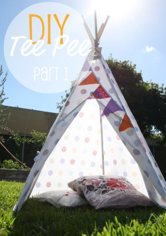 installer un tipi dans une chambre d 39 enfant. Black Bedroom Furniture Sets. Home Design Ideas