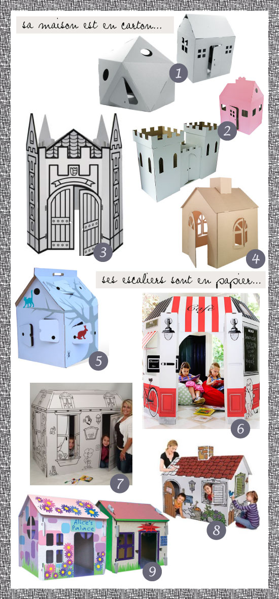 maisons en carton pour enfants. Black Bedroom Furniture Sets. Home Design Ideas