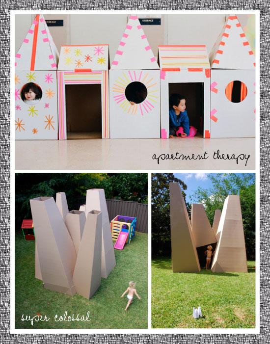 maisons en carton pour enfants. Black Bedroom Furniture Sets. Home Design Ideas