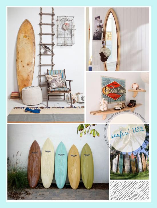 Mini Planche De Surf Deco : Planche de surf dans la déco