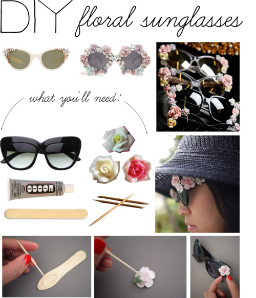DIY: Floral Sunglasses