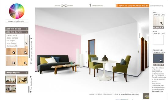 les simulateurs couleurs. Black Bedroom Furniture Sets. Home Design Ideas