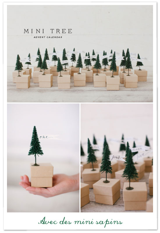mini sapins de no l mini trees diy round up. Black Bedroom Furniture Sets. Home Design Ideas