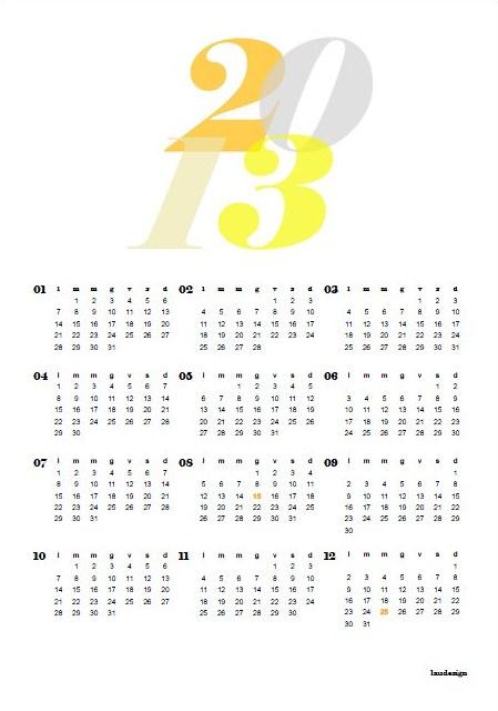 Free printable 2013 Calendar - L@U'S NOTEBOOK