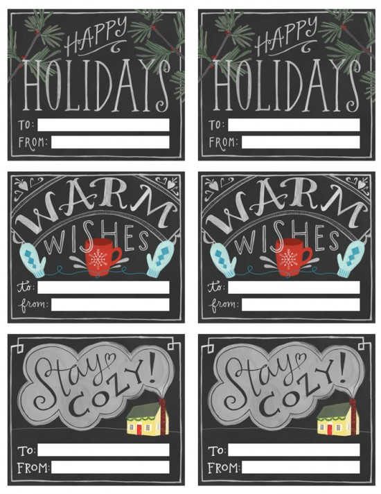 Free Chalkboard-Style Printable Gift Tags - EMILY MCDOWELL/POPPYTALK