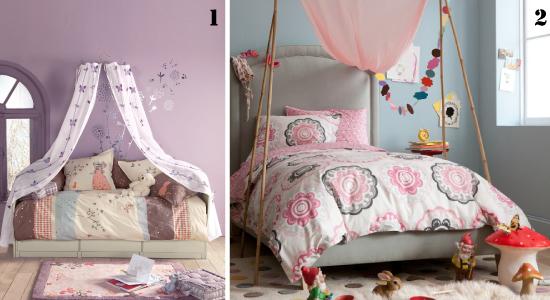 des idées de ciels de lit pour lit d'enfant