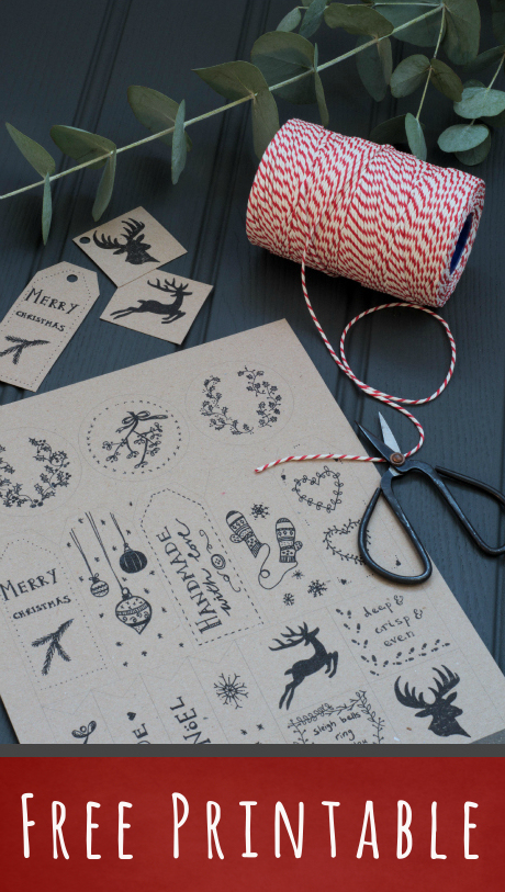 16 illustrated Christmas gift tags - DECORATOR'S NOTEBOOK