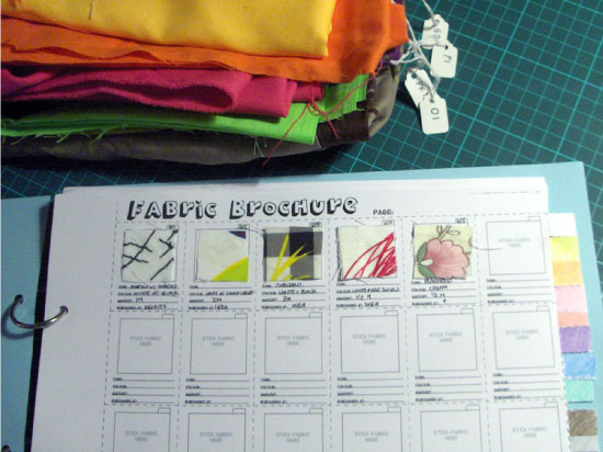 Fabric brochure DIY - CUT OUT + KEEP