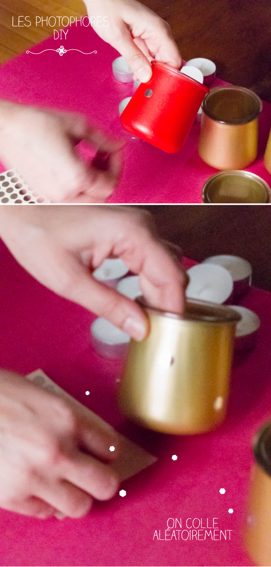 Pots de yaourt et petits pois