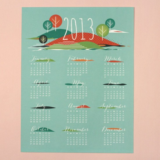 Seasons 2013 Calendar - LOVE VS DESIGN