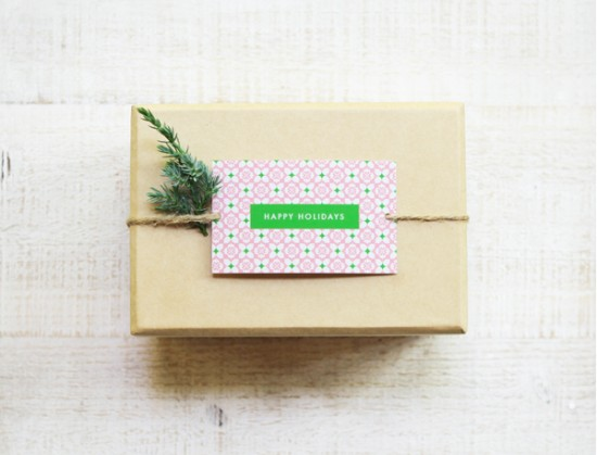 FREE PATTERNED HOLIDAY GIFT TAGS - EAT DRINK CHIC
