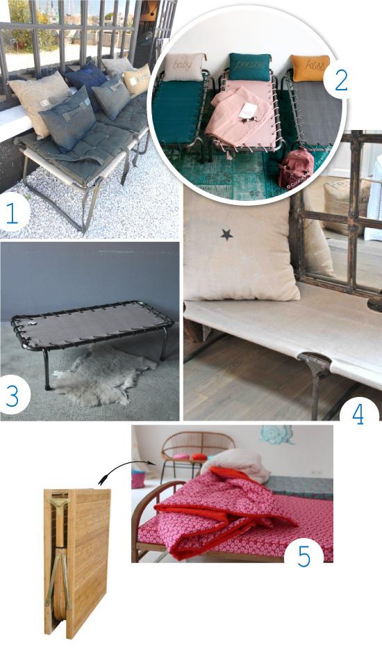 lits de camp vintage pour enfants kids cot. Black Bedroom Furniture Sets. Home Design Ideas