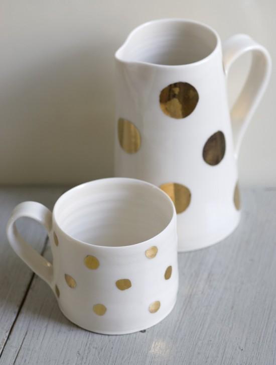 luna lighting-gold lustre-jug