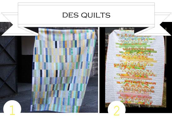 1. Strip quilt - CLUCK CLUCK SEW2. Line Art Quilt - STEPH'S STUFF