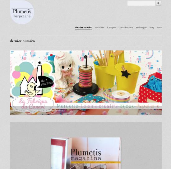 plumetis magazine, le nouveau site