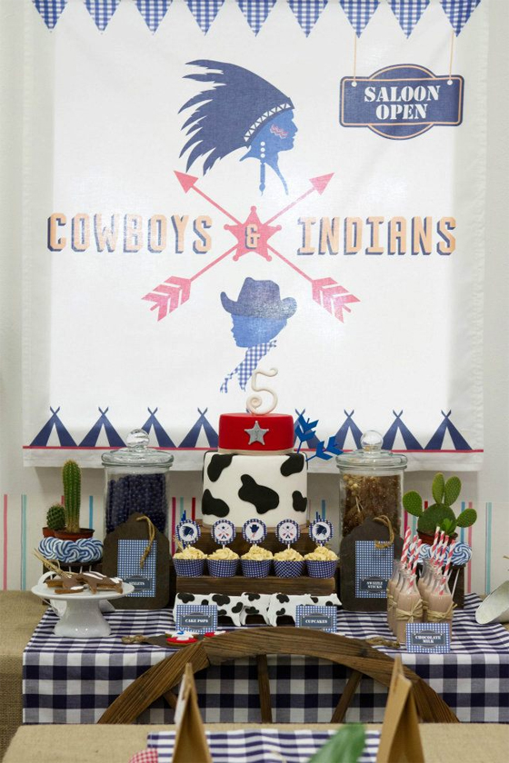 Cowboys & Indians Party : a collaboration between Little Big Company, Petit Atelier, Just Call Me Martha and Ham and Pea Design & Paperie - BABYBITES