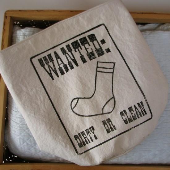 bucket for missing socks