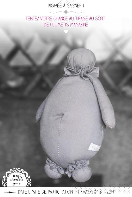 Un pigmée à gagner par tirage au sort sur le blog de Plumetis magazine