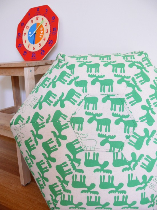 Handprinted Floor Cushion - Green Moose - MOOKAH