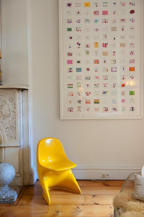 Walls, Windows & Floors: Children's Artwork Collage by Jan Eleni via REMODELISTA