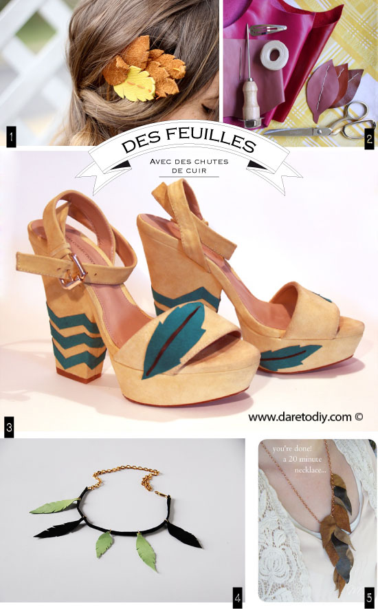 diy-leather-cuir-feuilles-feather