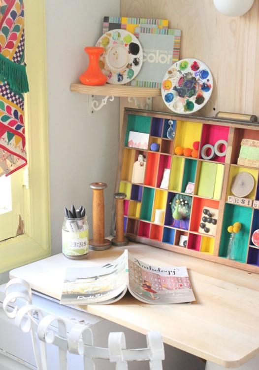 painted letterpress drawer (by justina blakeney)