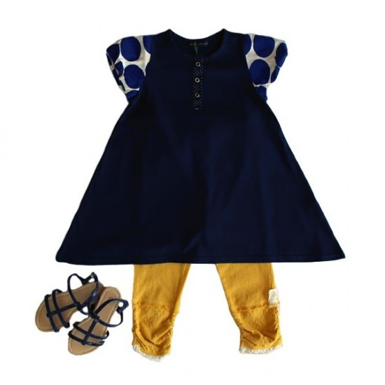 whip-cream-navy-dress-with-short-sleeves