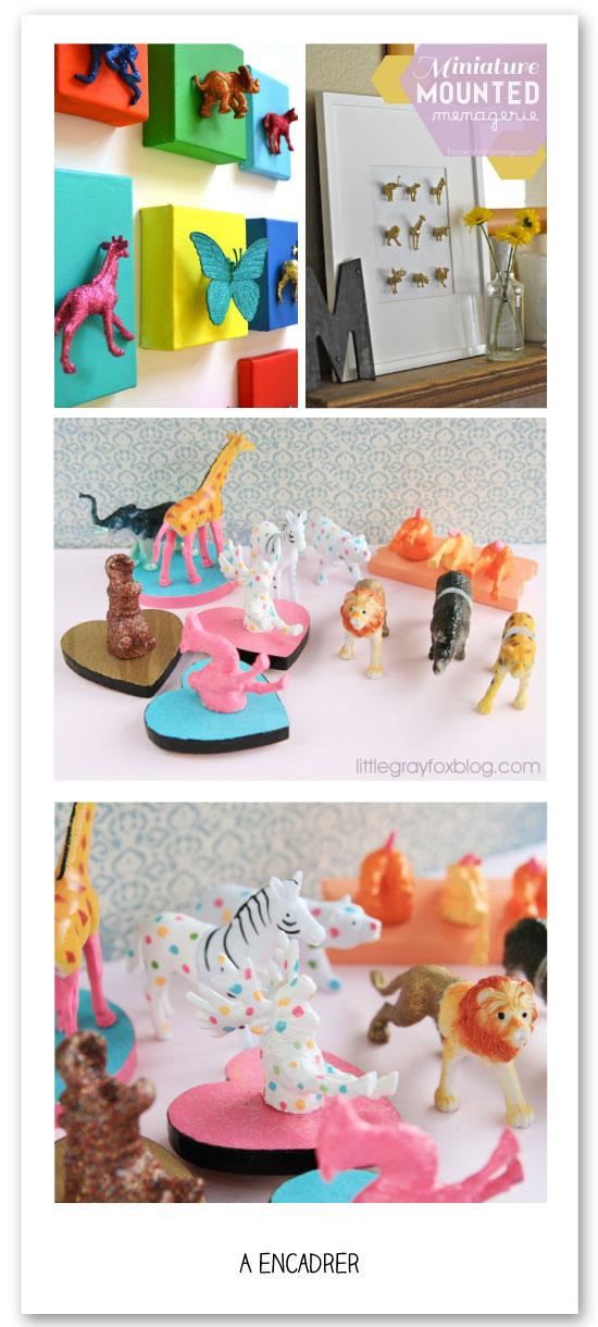 DIY-animaux-plastique-cadre