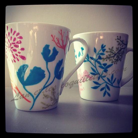 tasse 2 impression florale lan et les coquillettes