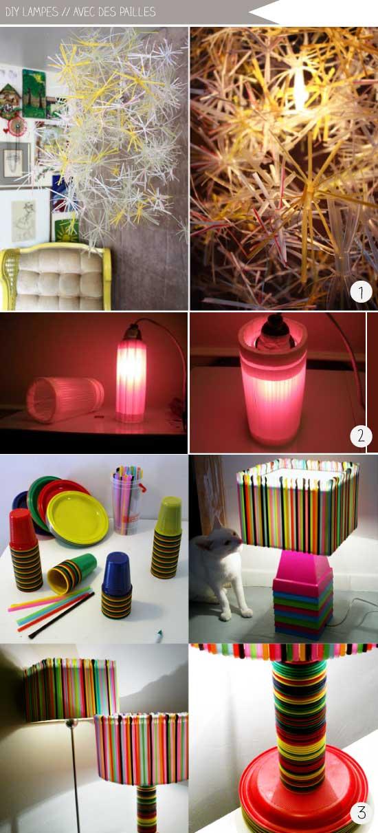 L'atelier du mercredi : avec des pailles // Les lampes