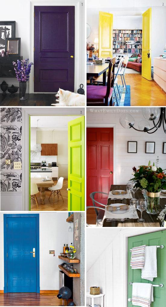 peindre les portes d'un couleur éclatante