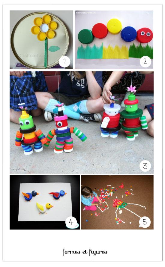 Diy avec des bouchons en plastique - Creation avec des bouchons ...