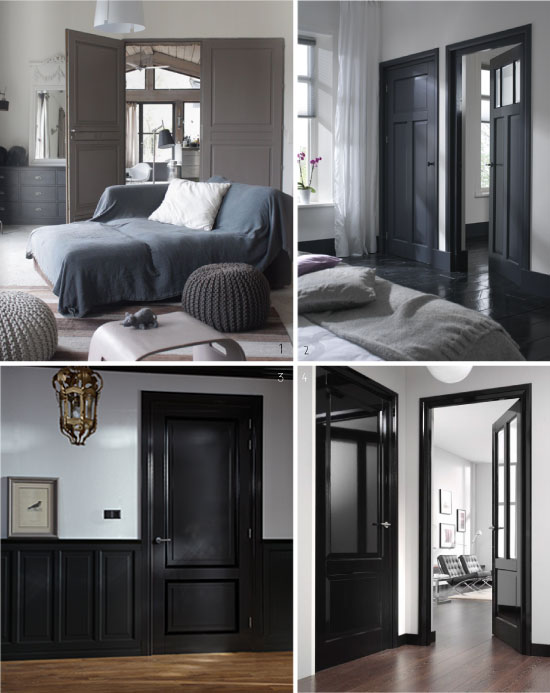 peindre une porte en bois en blanc. Black Bedroom Furniture Sets. Home Design Ideas