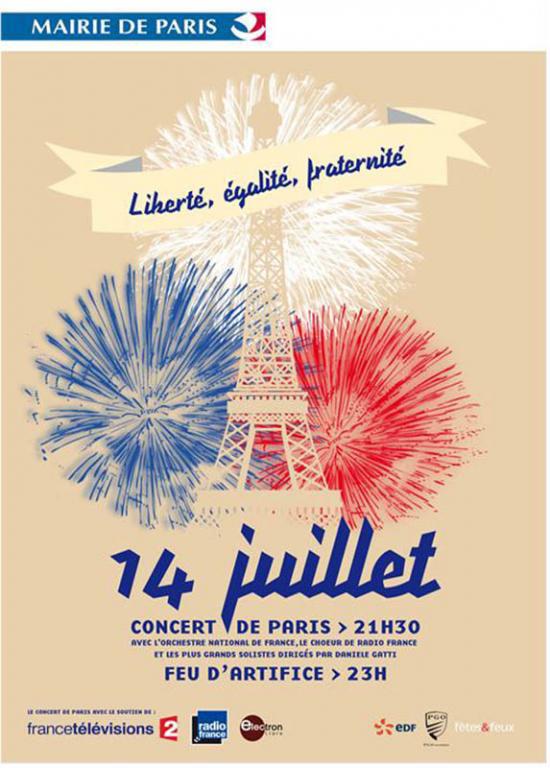 14 juillet au Trocadéro / Paris / Fête nationale