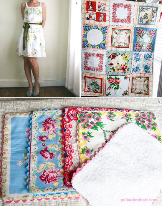 DIY projets de couture avec des mouchoirs