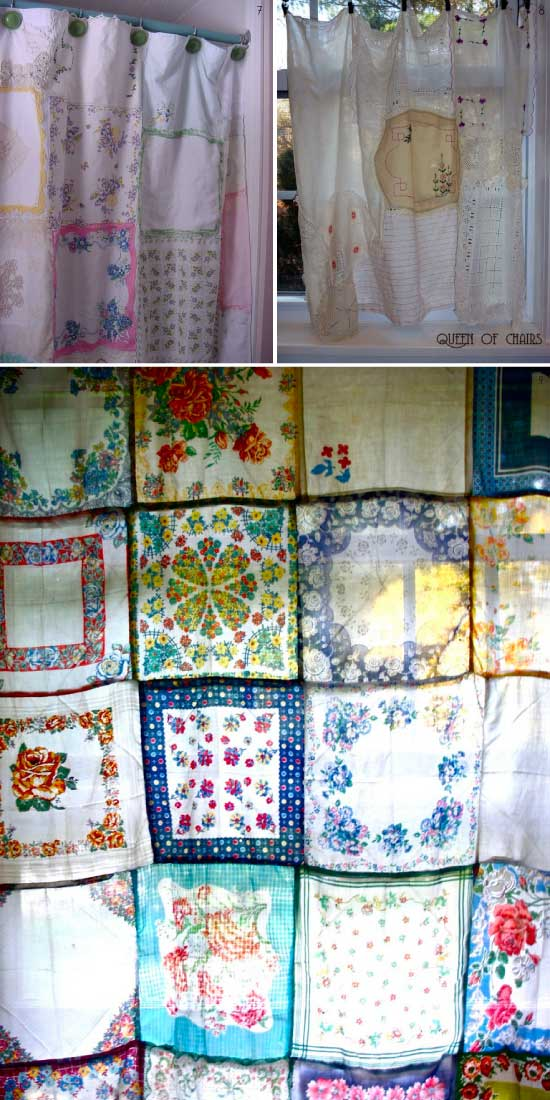 DIY projets de couture avec des mouchoirs - les rideaux