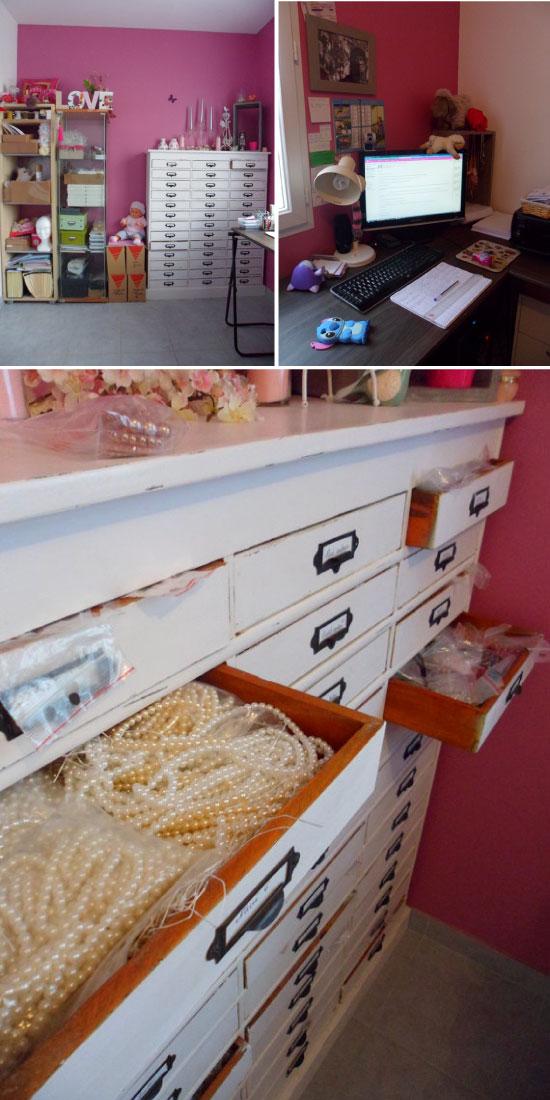 atelier Lola Framboise meuble à tiroirs