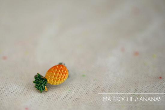 broche ananas plumetis